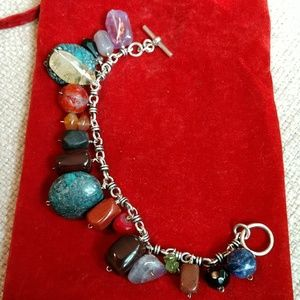 STERLING & MULTI-GEMSTONE bracelet